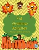 Fall Pumpkin Grammar Activities