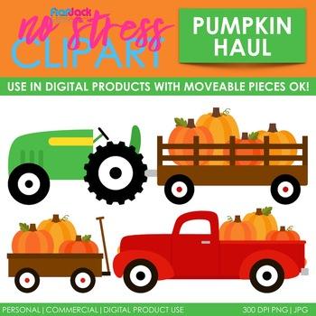 Fall Pumpkin Haul Clip Art (Digital Use Ok!)