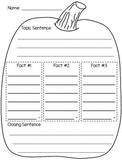 Fall Pumpkin Informational Writing Graphic Organizer