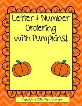 Fall Pumpkin Letter & Number Ordering