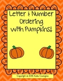 Fall Pumpkin Letter & Number Ordering