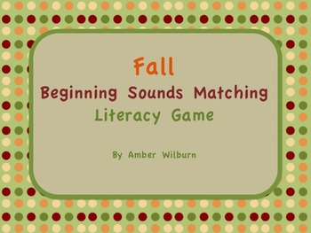 Fall Pumpkin Letter Sounds Matching Game