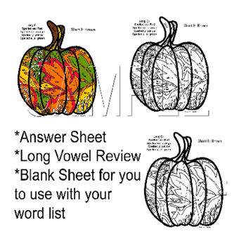 Fall Pumpkin Long E Review Coloring Page