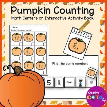 Fall Pumpkin Math Centers and Counting Activities