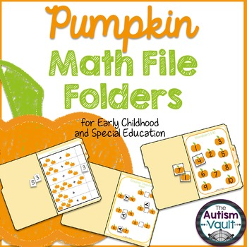 Fall Pumpkin Math File Folders for Early Childhood and Special Education