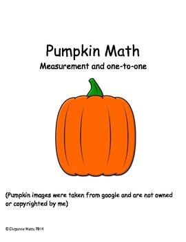 Fall Pumpkin Math (Pre-K/K/1st Grade) Activity