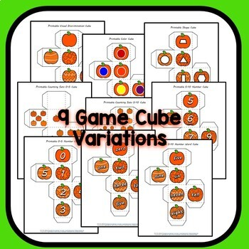 Fall Pumpkin Math Roll and Color Math Activities