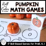 Fall Pumpkin Math Roll and Color Math Activities