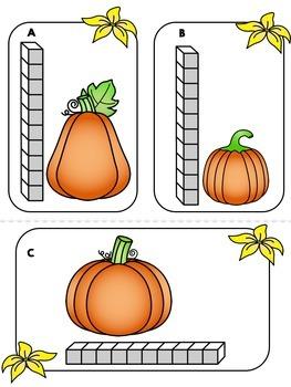 Fall Pumpkin Measurement Math Center