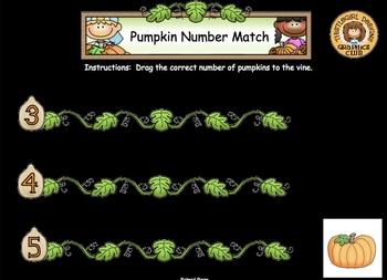 Pumpkin Number Match For Smartboard - FREEBIE