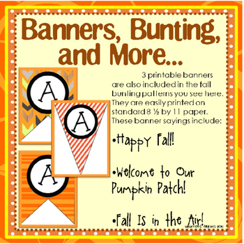 Fall Pumpkin Patch Bulletin Board Craftivity and Writing Printables
