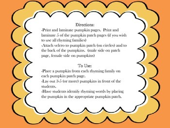 Fall: Pumpkin Patch Rhyming - Interactive Download
