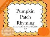 Fall: Pumpkin Patch Rhyming - Interactive Download