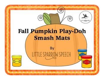 Fall Pumpkin Play-Doh Articulation Splat Mat