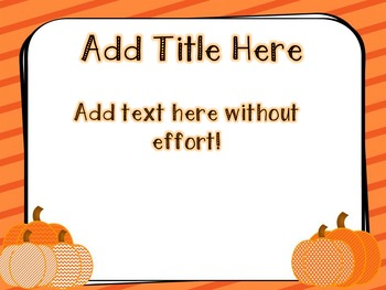 Fall Pumpkin PowerPoint Template Freebie