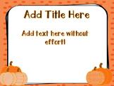 Fall Pumpkin PowerPoint Template Freebie