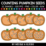Fall Pumpkin Seed Counting Clipart