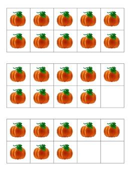 Fall Pumpkin Ten Frames Games
