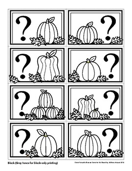 Fall Pumpkin-Themed Blank Quiz, Game and Flash Cards—Quick to Print and Use!!