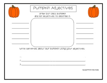 Fall Pumpkin Unit-Language Arts