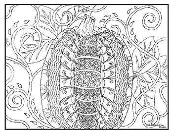 Fall Pumpkin Visual Arts Coloring Page