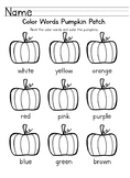 Fall Color Words (differentiated)