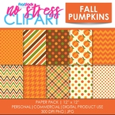 Fall Pumpkins Digital Papers