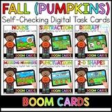 Fall Pumpkins Digital Task Cards | Boom Cards™ | Distance