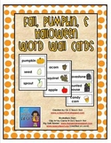 Fall, Pumpkins, Halloween Word Wall Cards