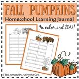 Fall Pumpkins Homeschool Learning Journal