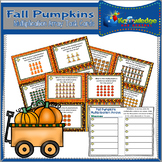 Fall Pumpkins Multiplication Arrays Task Cards With Response Sheet & Answer Key