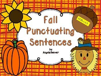 Fall Punctuating Sentences