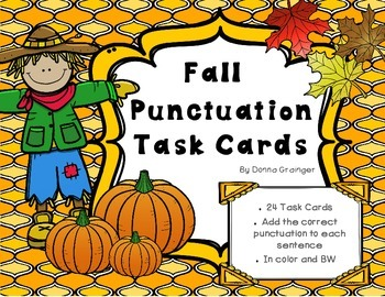 Fall Punctuation Task Cards