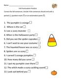 Fall Puncuation Practice