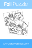 Fall Puzzle + Coloring Page - Active Littles