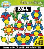 Fall Puzzle Pattern Blocks Clipart {Zip-A-Dee-Doo-Dah Designs}