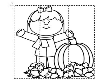 Fall Coloring Puzzle Pages