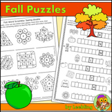 Fall Puzzles / Autumn Puzzles - Fall Crossword, Fall Word