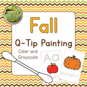 q tip pumpkin template  Q Tip Painting Pumpkin Worksheets & Teaching Resources | TpT