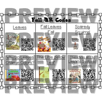 Fall QR Code Read Alouds