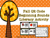 Fall QR Code Beginning Sounds Literacy Activity