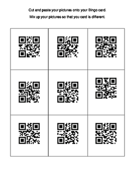 Fall QR Code Bingo Game Board