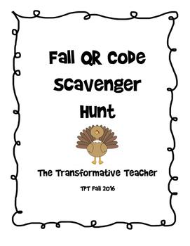 Fall QR Code Scavenger Hunt