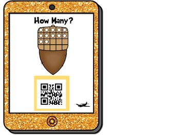 Fall QR Codes for Tens Frames