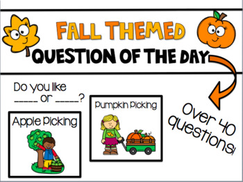 Fall Question of the Day-Pocket Chart Cards