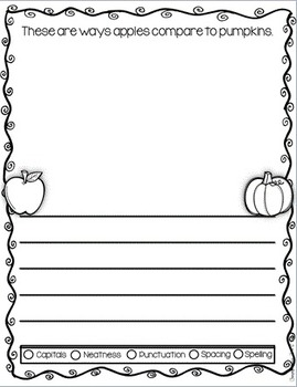 Fall ~ Quick Write Assessment Journals for Young Learners