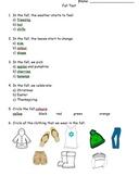 Fall Quiz - Grade 1