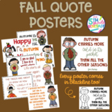Fall Quotes Posters- Melonheadz clip art  *Color and ink f
