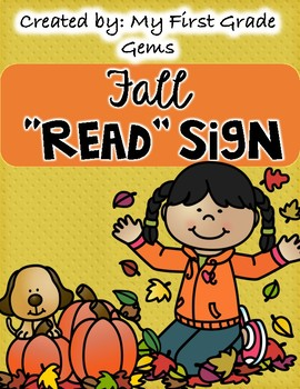 "Fall ""READ"" Classroom Library Sign"