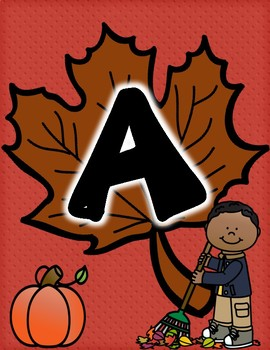 """Fall """"READ"""" Classroom Library Sign"""